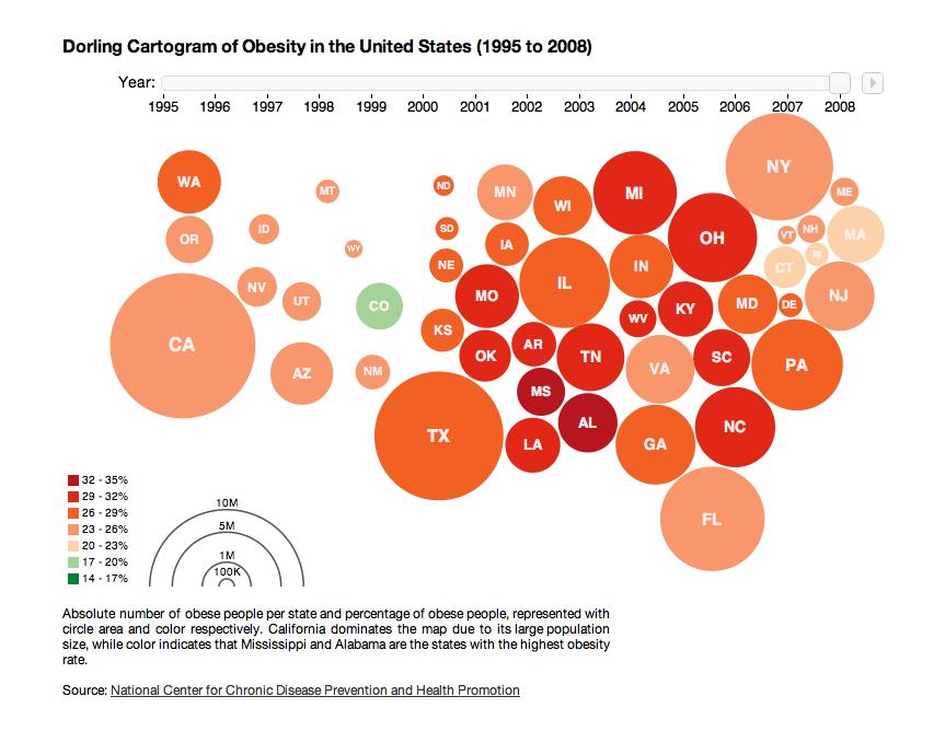 Obesity Cartogram