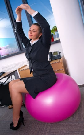 Exercising at Work Can Be a Ball