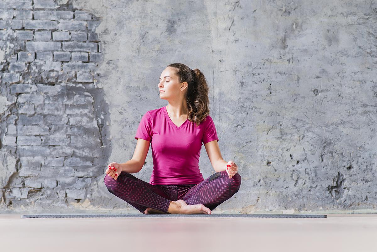 Healthy @ Home Woman Meditating